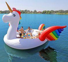 Giant Unicorn Lake Float Seats Up to 6 Adults