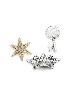 Design Lab Lord & Taylor Crown, Star and Key Pin Set Women's Multi