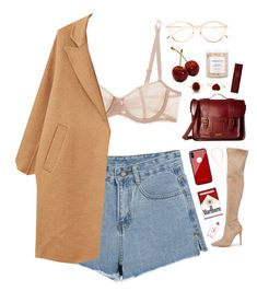 """""""Cherry"""" by mode-222 ❤ liked on Polyvore featuring Chantelle, Kendall + Kylie, MANGO, French Girl, Thom Browne, Dr. Martens, Other, Byredo and Calvin Klein"""