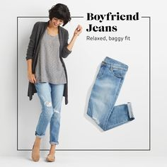 Stitch Fix Fall Denim 2016. Never tried boyfriend jeans but this look really nice-would love to try.