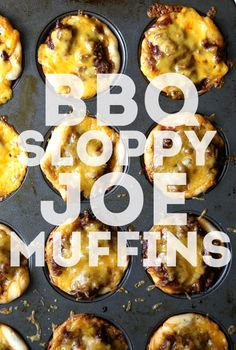 BBQ SLoppy Joe Muffins..an easy family favorite! Great weeknight meal!