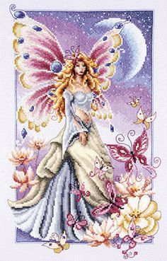 cross stitch kits image of Butterfly Fairy Cross Stitch Kit - Fantasy Cross Stitch, Cross Stitch Fairy, Cross Stitch Angels, Butterfly Cross Stitch, Cross Stitch Kits, Cross Stitch Designs, Cross Stitch Patterns, Cross Stitching, Cross Stitch Embroidery