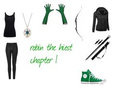 """the hiest Robin hood, the daughter of hawkeye chapter 1"" by dpperrules on Polyvore featuring Topshop, Juvia, Converse and Monica Rich Kosann"