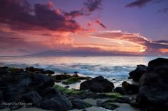 Island by Sunset, Lone Surfer | Hawaii Pictures of the Day