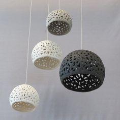 4 Ceiling Lighting chandelier .Pendant by rachelnadlerceramics