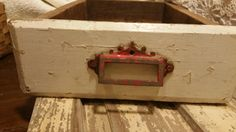 Old Primitive Country Wood Drawer with Old by ForgottenCloverFarm