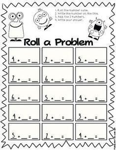 MONSTERS ROLL A PROBLEM - TeachersPayTeachers.com