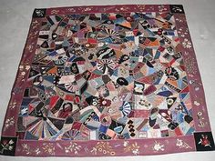 Antique 19th Century Crazy Quilt as seen on ANTIQUES ROADSHOW SEATTLE 5/27/2013