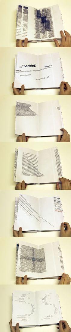 Autor / Texto / Lector. Erica Kitamura Book Design: Experimental Typography http://ericakitamura.blogspot.com.es/2012/02/book-design-experimental-typography.html