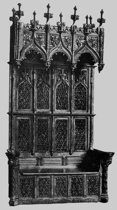 19 muebles estilo gotico s xv armario cabinet - Muebles antiguos valencia ...