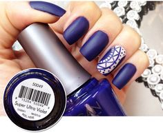 Matte Super Ultra Violet nail polish  with accent nail art Nailsmatte3.jpg