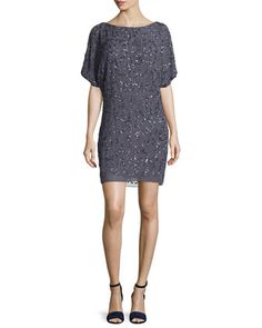 Cold-Shoulder+Sequined+Cocktail+Dress+by+Aidan+Mattox+at+Neiman+Marcus.