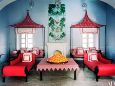 My India obsession continues with this stunning apartment belonging to decorator Marie-Anne Oudejan published in AD magazine. The suite is located in Jaipur's hotel Narain Niwas Palace and its striking blue and red palette feels both fresh and classic. Marie-Anne is the designer behind my beloved Bar Palladio and Caffe Paladio. Clearly, her home is as chic as her commercial …