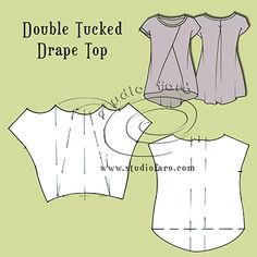 Two styles for beginner drape tops.  :)