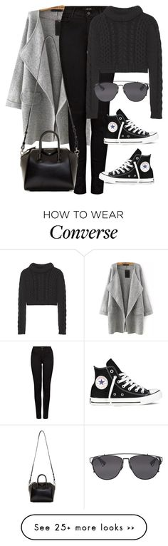 """Untitled #8353"" by katgorostiza on Polyvore featuring moda, J Brand, TIBI, Christian Dior, Converse e Givenchy"