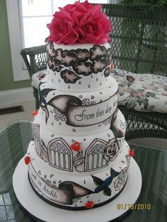 tattoo wedding cake by Any Way You Ice It.com, via Flickr