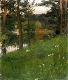 bofransson:  Anders Zorn (Swedish, 1860 - 1920)  From Lidingön ca 1887: