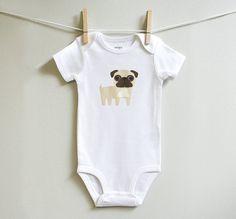 For Pug People :: Baby onesie :: etsy.com/shop/squarepaisleydesign