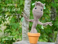 Smartapple Creations - amigurumi and crochet: Gratis Häkelanleitung in Deutsch - Baby Groot aus Guardians of the Galaxy Super toll zum nacharbeiten !!!!!