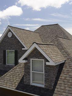 CertainTeed Landmark shingles in Weathered Wood #residentialroofing