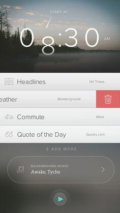 Mornings by Rick Messer for funsize ui design gui web design responsive