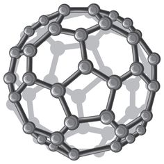 The fullerene molecule, also known as C60, for its 60 carbon atoms. It is unique on Earth existing only within shungite stones. Thought to be one of the driving reasons behind both the potent water purification capabilities as well as the balancing and protecting from negative energies, including electromagnetic fields generated from electrical and wireless devices. Discovered as the best antioxidant on the planet.