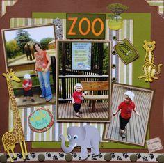 zoo scrapbook page titles Scrapbook Designs, Scrapbook Sketches, Scrapbook Page Layouts, Scrapbook Albums, Scrapbook Cards, Scrapbooking Ideas, Book Layouts, Photo Layouts, Wedding Scrapbook