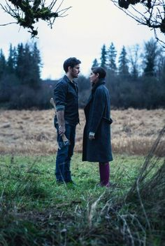 """Colin O'Donoghue and Christina Perri behind the scenes of """" The Words """" music video."""