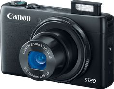 Canon PowerShot S120  24-120mm focal length  Brighter f/1.8-5.7 maximum aperture range  9.4-12.1 FPS  635 shots  AF control during video