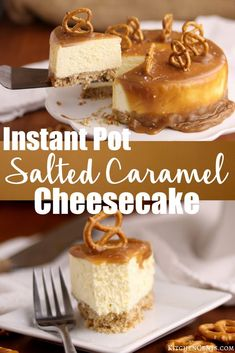 Did you know you can make CHEESECAKE in the INSTANT POT? Break out the Instant Pot and secure the pressure release. We're heading to cheesecake heaven with this Instant Pot Salted Caramel Cheesecake! A layer of sweetened pretzel crust holds th Instant Pot Cheesecake Recipe, How To Make Cheesecake, Easy Cheesecake Recipes, Crock Pot Cheesecake, Pressure Cooker Cheesecake, Basic Cheesecake, Instapot Cheesecake, Fun Desserts, Dessert Recipes