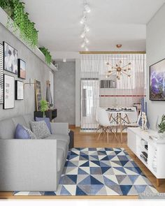 10 Dreamy ways to make your studio apartment look bigger - Daily Dream Decor Home Living Room, Apartment Living, Interior Design Living Room, Living Room Designs, Living Room Decor, Interior Modern, Modern Decor, Studio Apartments, Dream Decor
