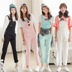 "Sweet candy color strap trousers HOLIDAY GIFT CENTER - BEST GIFT OF THE YEAR Cute Kawaii Harajuku Fashion Clothing & Accessories Website. Sponsorship Review & Affiliate Program opening!i have no idea to chose which one? check it out use this coupon code ""pinscute"" to get all 10% off shop now for lowest price."