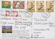 other side: I quit my job to come here. It was the xmost stupidx BRAVEST thing I have ever done. Secret from PostSecret.com