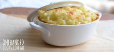 FISH & POTATO PIE: Lovely in the cooler weather this pie is perfect for all the ages, pureed, mashed, or just as it is #onehandedcooks