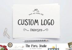 Watercolor Floral Gold Foil Antler Logo Design Custom Logo Design Event Wedding Photography Logo Website Branding Blog Logo Pay As You Go