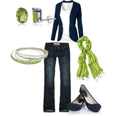 navy and lime green solids