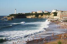 Surfing at Grande Plage in Biarritz