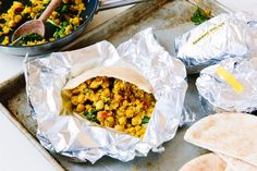 For a vegan breakfast sandwich that will power you through the morning, look to this pita pocket stuffed with a blend of spiced chickpeas and sautéed veggies. It's prepared in advance, then stashed in the freezer, ready to be reheated in the oven while you buzz through your morning routine.