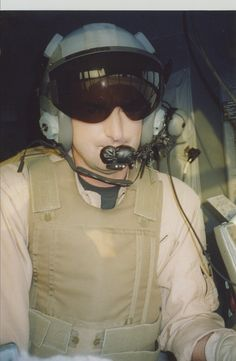 Inside a C-130 on the ground at Balad, Iraq, on a very long day in 2003.