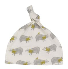 Knotted hat with print. Available in Bug, Badger, Octopus and (pink) Butterfly print. Made in the UK Beautiful - Ethical - Organic Pink Butterfly, Butterfly Print, Cotton Hat, Kids Patterns, Organic Baby Clothes, Pigeon, Baby Hats, Kids Wear, Organic Cotton