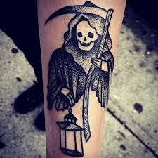 Image result for grim reaper tattoo old school