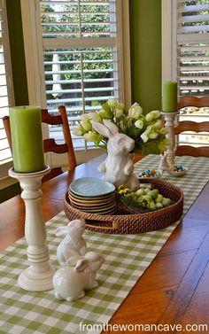 Green+Gingham+Bunny+Runner+Display #greenroom