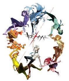 Tags: Official Art, PNG Conversion, Trigger (Studio), Yoneyama Mai, Kiznaiver, Tenga Hajime, Yuta Tsuguhito, Hisomu Yoshiharu, Agata Katsuhira, Sonozaki Noriko, Takashiro Chidori, Niiyama Niko, Maki Honoka