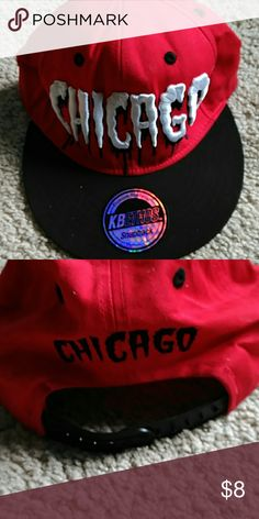 Chicago Hat Red and Black SnapBack Accessories Hats