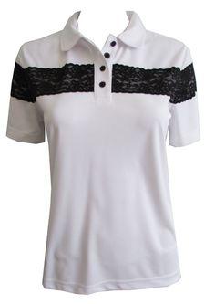 f4bca0853ceec Cracked Wheat Ladies  amp  Plus Size Eliza Short Sleeve Golf Shirts - Diva  (White