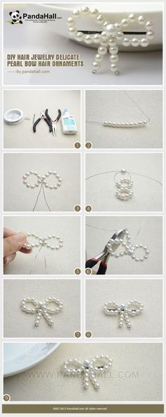 How to Make Pearl Bow Hair Accessories for Girls by jacki2