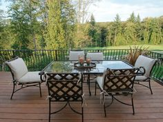 Photo about The deck with a view of a fairway. Image of picnic, chair, fairway - 1028629