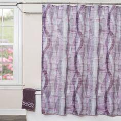 Sketchbook Waves Fabric Shower Curtain - BedBathandBeyond.com