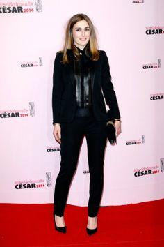 Fabulously Spotted: Julie Gayet Wearing Saint Laurent - Cesar Film Awards 2014 - http://www.becauseiamfabulous.com/2014/02/julie-gayet-wearing-saint-laurent-cesar-film-awards-2014/