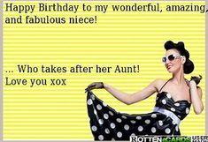 Happy birthday niece x Happy Birthday Quotes, Happy Birthday Wishes, Birthday Greetings, Birthday Memes, Happy Birthday Funny Niece, Birthday Cards, Birthday Messages, Sarcastic Birthday Wishes, Birthday Nephew